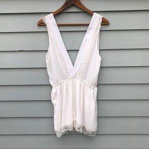🌿 3 for $15 White Silk Romper